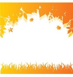 autumn back orange vector image vector image