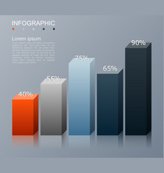 bar chart infographics elements vector image