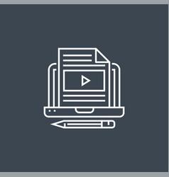 Blog line icon vector