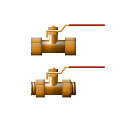 Brass shut-off valve vector