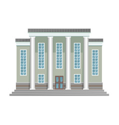 Building government iconcartoon vector