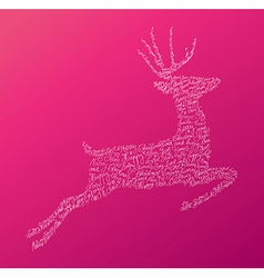 Christmas text jumping reindeer composition EPS10 vector image