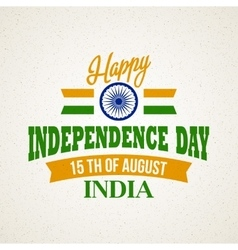 creative indian independence day concept vector image