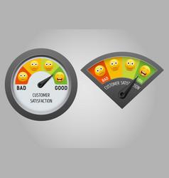 Customer satisfaction meter vector