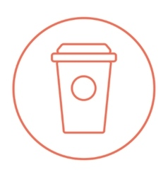 Disposable cup line icon vector image