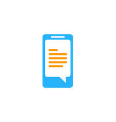 document mobile logo icon design vector image