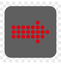 Dotted Arrow Right Rounded Square Button vector