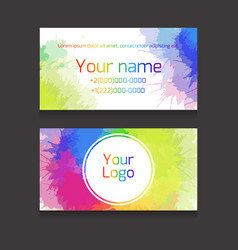 Double-sided business card template with vector