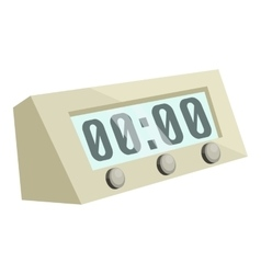 Electronic alarm clock icon cartoon style vector