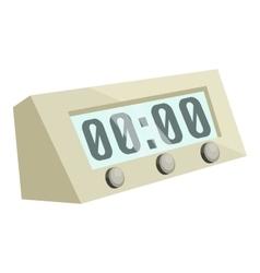 Electronic alarm clock icon cartoon style vector