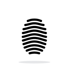 Fingerprint arch type icon on white background vector image