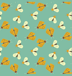 Firefly and bee geometric seamless pattern vector