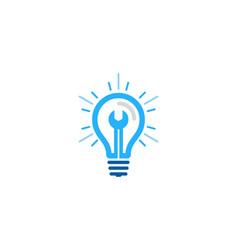 fix idea logo icon design vector image