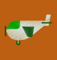 flat icon in shading style airplane with propeller vector image