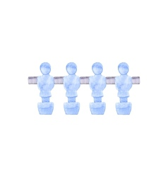 Foosball players Watercolor object on the white vector