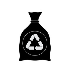 garbage bag cartoon icon vector image