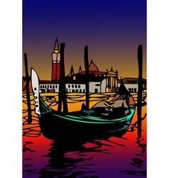 Gondola a San Marco vector