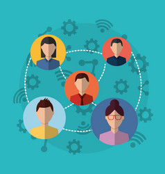 Group people internet vector