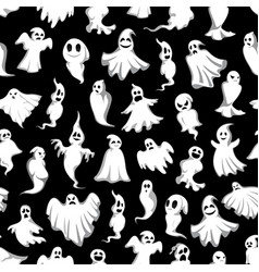 Halloween party ghost pattern vector