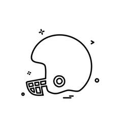 helmet cricket playing icon design vector image