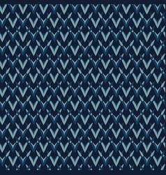 indigo pattern knit texture seamless vector image
