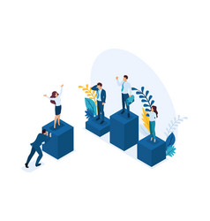 isometric businessmen successful leader vector image