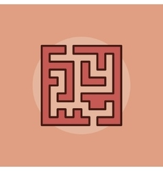 Labyrinth abstract icon vector image