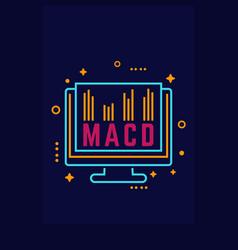 Macd trading indicator icon vector