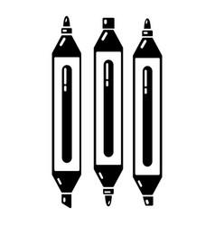 marker pen icon simple black style vector image