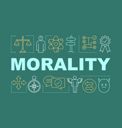 morality word concepts banner vector image