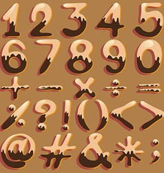Numerical figures and signs vector image