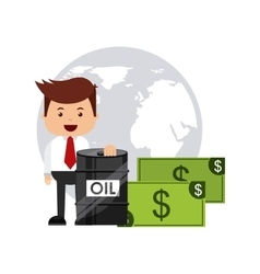 Oil prices business icon vector