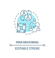 Peer mentoring concept icon vector