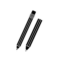 Pencil with eraser icon image vector