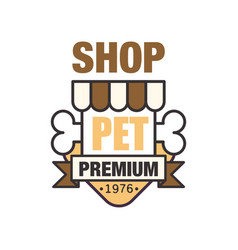 Pet shop premium since 1976 logo template design vector