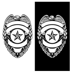 police sheriff law enforcement badge vector image