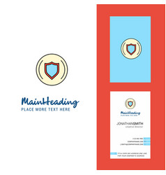 Protected sheild creative logo and business card vector