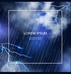 realistic water storm poster vector image