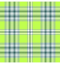 seamless plaid pattern in bright green and white vector image