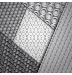 Set of several seamless carbon fiber patterns vector image