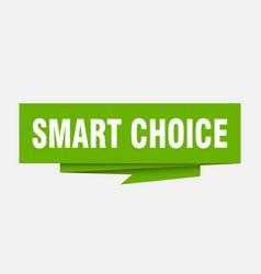 Smart choice vector