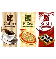 Template designs food banners vector