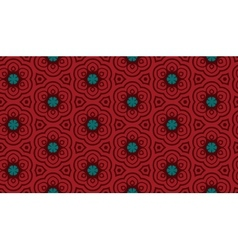 Terracotta pattern with flowers vector image