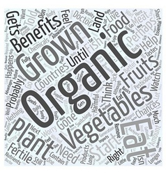 The Benefits of Eating Organically Grown vector