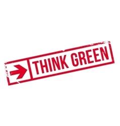 Think green stamp vector