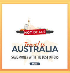 travel to australia travel template banners for vector image