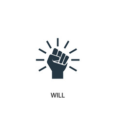 Will icon simple element vector