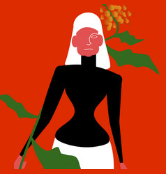 woman model vector image