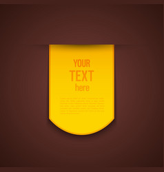 Yellow advertising sticker vector image
