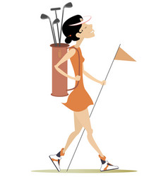 Young woman a golfer vector
